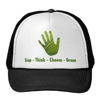 Green Hand Cut Out Cap