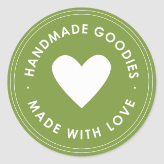 Green Handmade Goodies Sticker