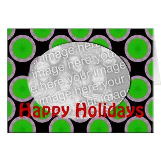 green happy holidays photo frame greeting card