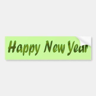 green Happy New Year Bumper Sticker