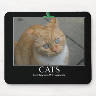 GREEN HAT PRODUCTIONS WTF CATS mousepad