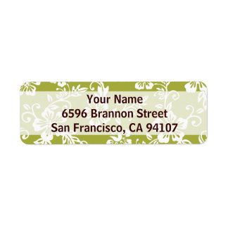 Green Hawaiian Address Labels
