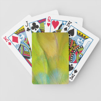 Green Headed Parrot Horizontal Bicycle Playing Cards