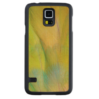 Green Headed Parrot Horizontal Carved Maple Galaxy S5 Case