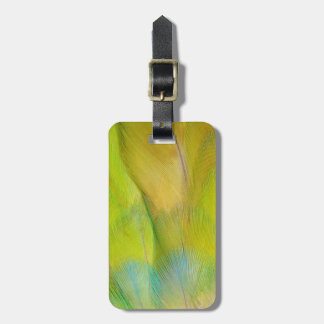 Green Headed Parrot Horizontal Luggage Tag