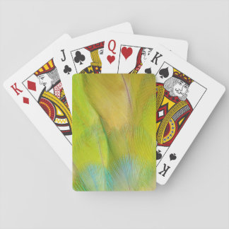 Green Headed Parrot Horizontal Playing Cards
