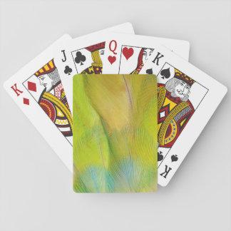 Green Headed Parrot Horizontal Poker Deck