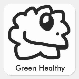 Green Healthy Sticker