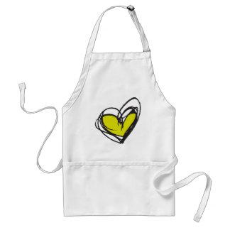 Green Heart Apron — Trendy & Elegant