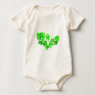 Green Heart Baby Bodysuit