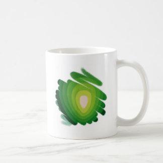 Green Heart Chakra on White Tea Mug