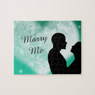Green Heart Couple Marry Me Puzzle