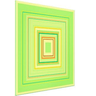 Green Heart Decorative Colour Pattern Canvas Print