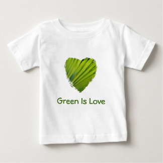 Green Heart, Green Is Love Baby T-Shirt