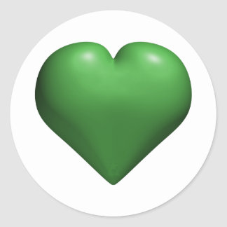 Green Heart - HAPPY St. Patrick's Day Round Stickers