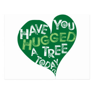 Green Heart (Hug a Tree) Postcard