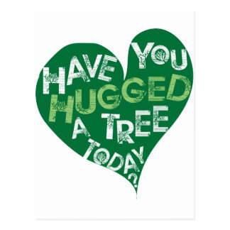 Green Heart (Hug a Tree) Postcard