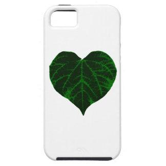 Green Heart Leaf iPhone 5 Cover