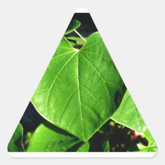 Green Heart Leaves Triangle Sticker