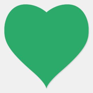 Green Heart Sticker