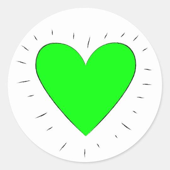 Green Heart - Stickers