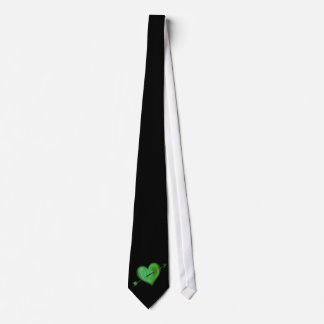 Green Heart with Arrow Tie