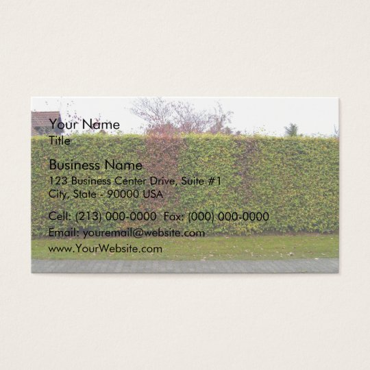 Green hedge texture business card