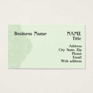 Green Henna Business Card