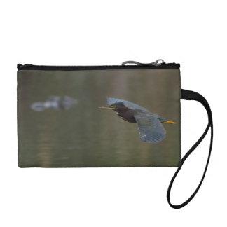 green heron & alligator coin purses