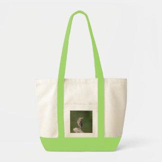 Green Heron on a log Tote Bag