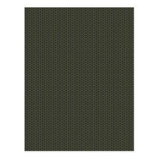 Green hexagons pattern postcard