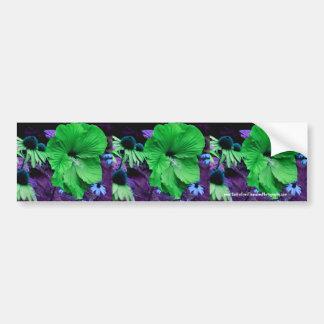 Green Hibiscus Flower Bumper Sticker Car Art Car Bumper Sticker