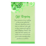Green Hibiscus Wedding Gift Registry Mini Cards Pack Of Standard Business Cards
