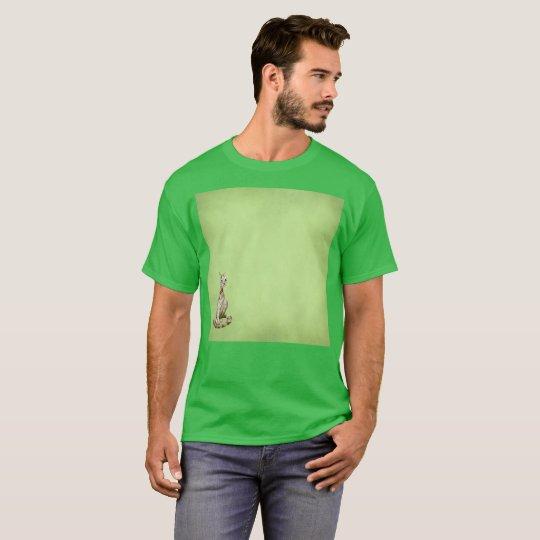 Green Hidden Leftist Gato Watercolor Rare T-Shirt