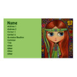 Green Hippie with Peace Sign Headband Pack Of Standard Business Cards