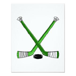 Green Hockey Card