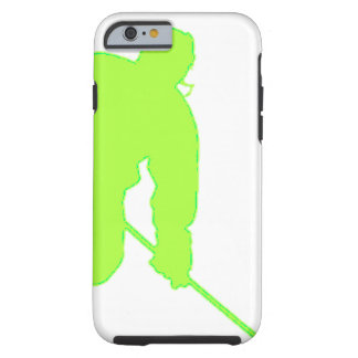 Green Hockey Player Tough iPhone 6 Case