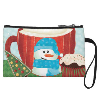 Green Holiday Cup with Hot Cocoa Wristlet