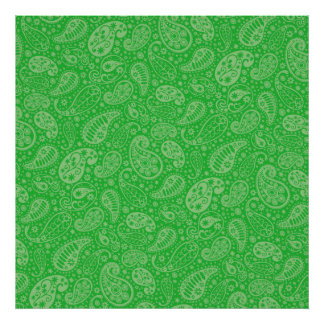 Green Holiday Paisely Poster