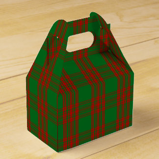 Green Holiday Plaid Favour Boxes