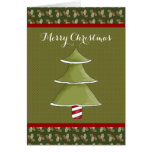 Green Holly Merry Christmas Card