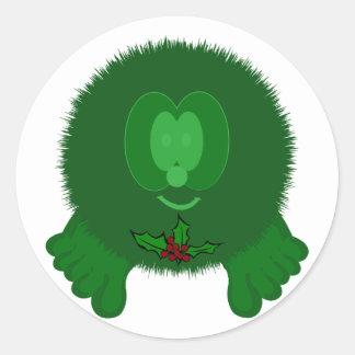 Green Holly Tie Pom Pom Pal Stickers