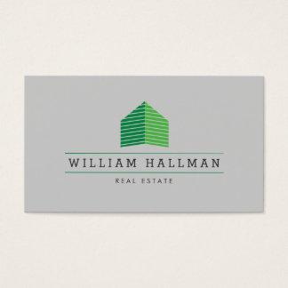 Green Home Logo Builder Real Estate Business Card
