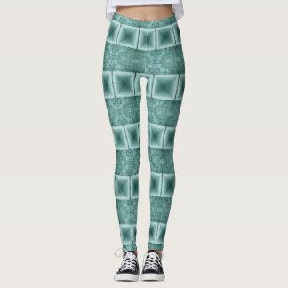 Green Horizontal Stripe Leggings
