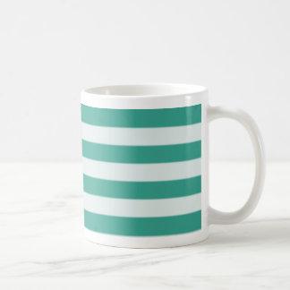 Green horizontal stripe mug