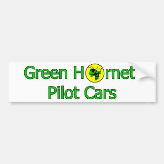 Green Hornet Pilot Cars Bumper Sticker