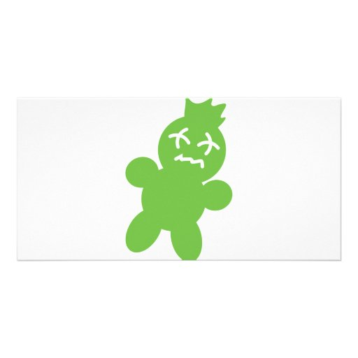 green horror doll icon picture card
