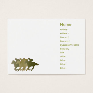 Green Horse - Chubby Business Card