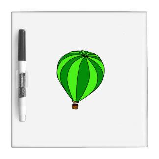 Green Hot Air Ballon Cartoon Dry-Erase Whiteboard