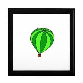 Green Hot Air Ballon Cartoon Keepsake Boxes